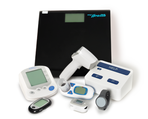 Pro Health Package - Pro health console, Remote Assistance Button, Glucometer, Non-contact thermometer, Wearable wrist pendant, digital scale, pulse oximeter